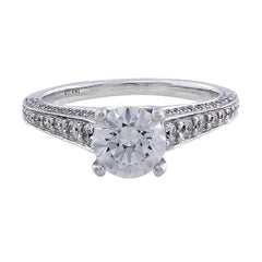 Modern Bead And Bright Setting Solitaire Ring, Ritani