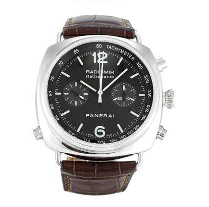 Panerai Radiomir Chronograph Rattrapante 44mm Steel Watch PAM00214