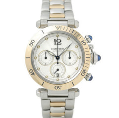 Certified Preowned Cartier Pasha Chronograph W31036T6