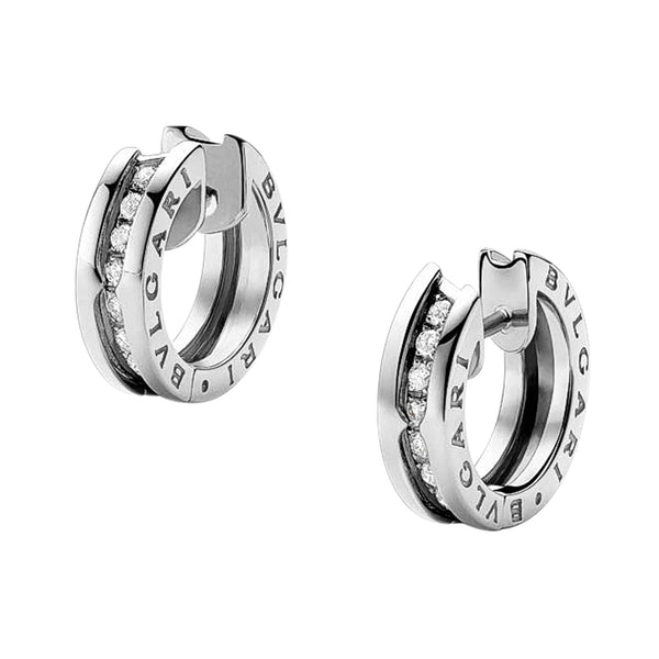 Bulgari B.Zero1 White Gold Small Diamond Earrings 345581