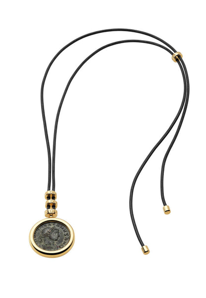 Bulgari Monete Yellow Gold Antique Bronze Coin Necklace 346330