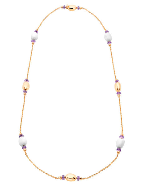 Bulgari Mediterranean Eden Pink Gold Ceramic and Amethyst Necklace 346333