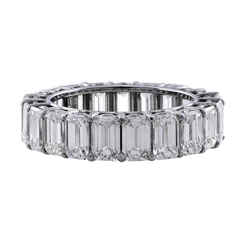 6ct Emerald Cut Diamond Eternity Band