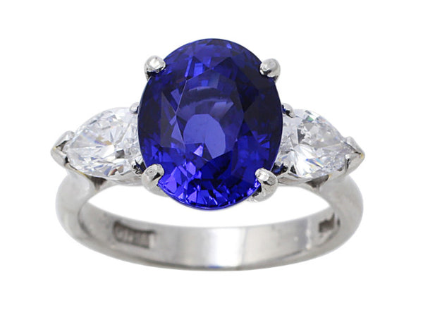 Estate 7ct Natural Ceylon Sapphire Ring, AGL-certified