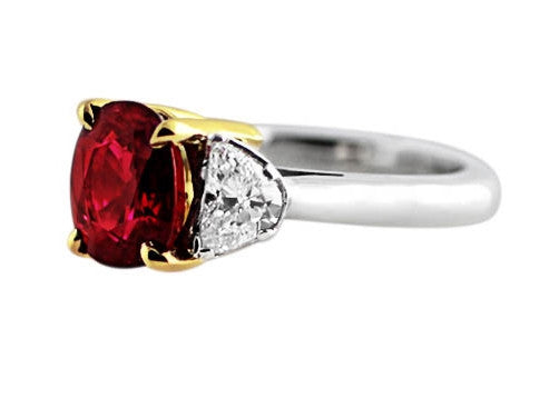 3ct Burma Ruby Ring
