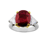 6ct Ruby Platinum Ring