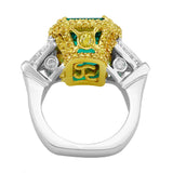 """Riviera"" 6.85ct Emerald & Diamond Platinum Ring"