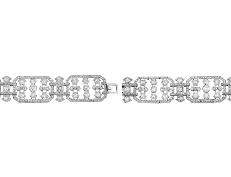 Estate 20th Century Platinum & Diamond Bracelet