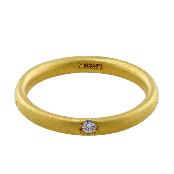 Pomellato Yellow Gold Single Diamond Ring