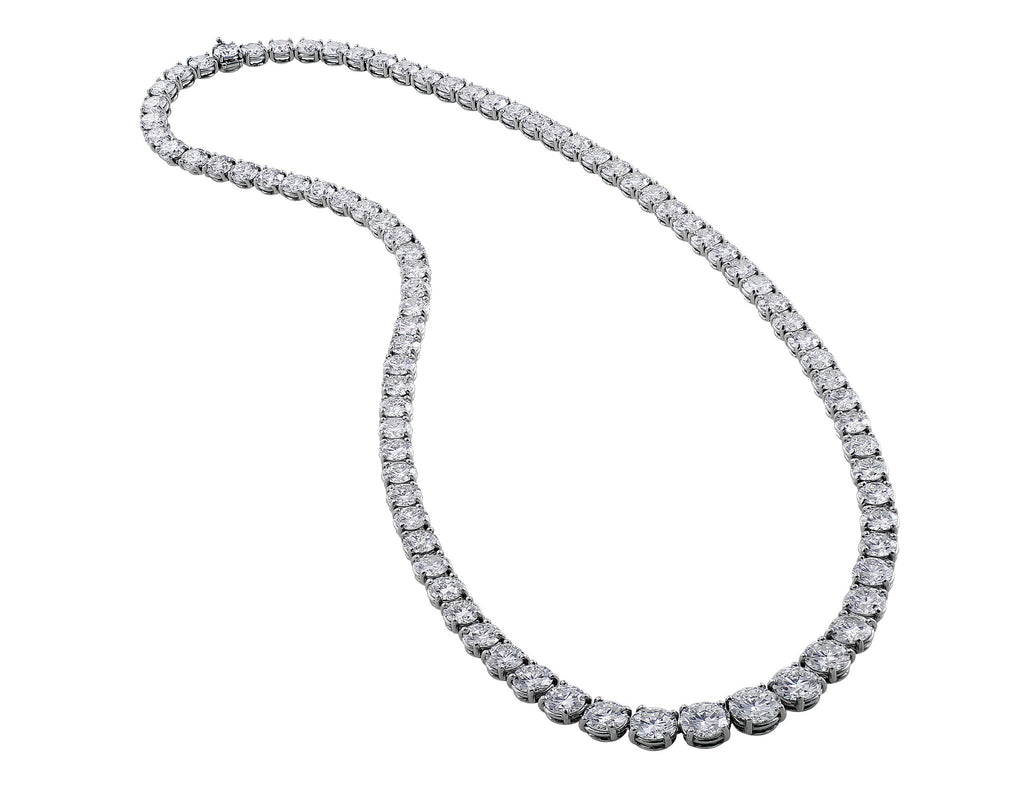 img platinum necklace baguette carat brilliant products diamond and l riviere