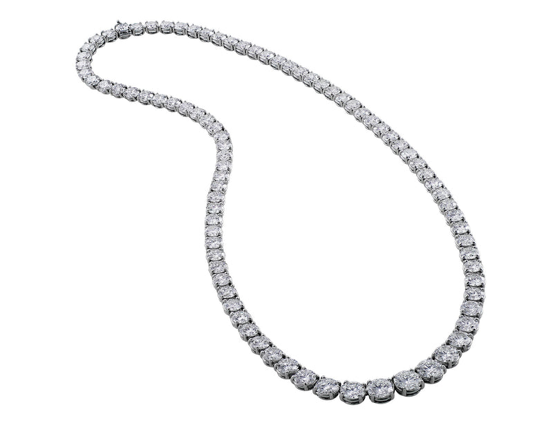30ct Riviera Platinum Diamond Necklace