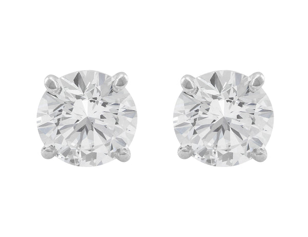 "CJ Charles ""Riviera"" 4.15ctw Round Brilliant Diamonds Studs"