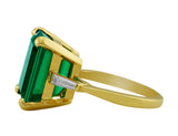 Estate 8.83ct Emerald & Diamond Ring