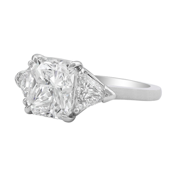 4.01ct Cushion Cut Diamond Platinum Ring