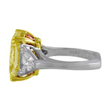 7.20ct Fancy Yellow Diamond Ring