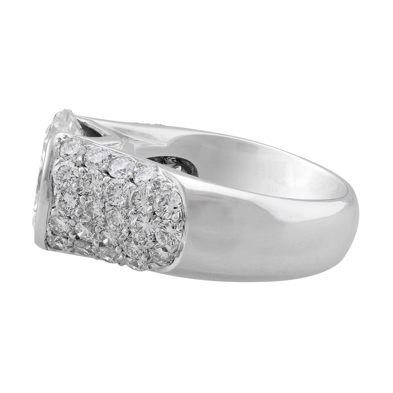 """Riviera"" 4.87ct Round Brilliant Diamond Platinum Ring"