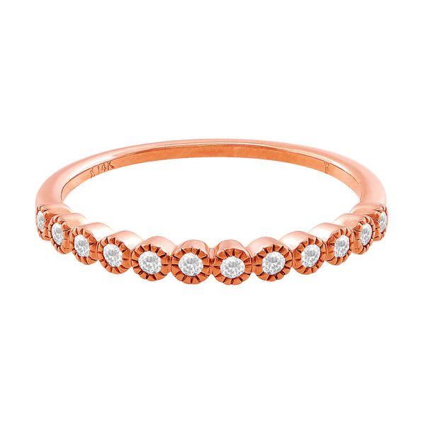 14kt Rose Gold Diamond Anniversary Band