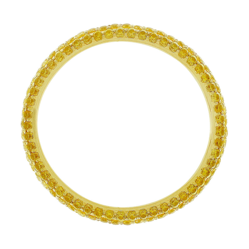 14kt Yellow Gold Yellow Sapphire Eternity Band
