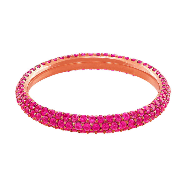 14kt Rose Gold Pink Sapphire Eternity Band