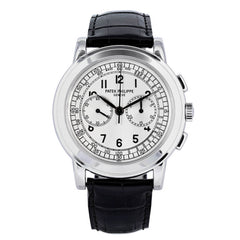 Certified Preowned Patek Philippe 18kt White Gold Chronograph 5070G