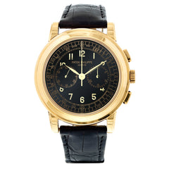 Certified Preowned Patek Philippe 18kt Yellow Gold Chronograph 5070J