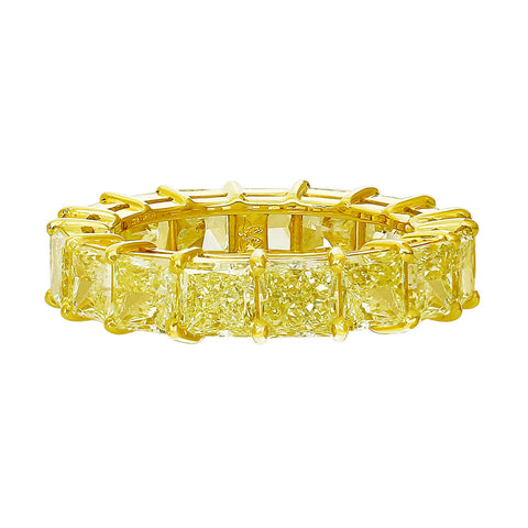 """Riviera"" Fancy Yellow Princess Cut Ring"