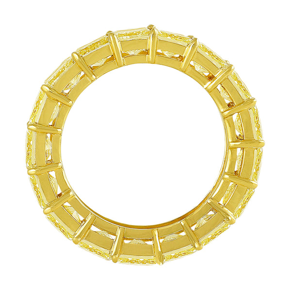 Fancy Yellow Princess Cut Ring