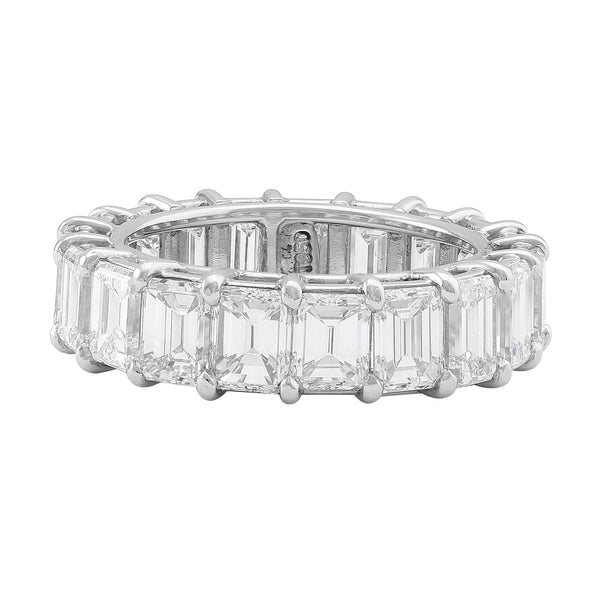 """Riviera"" 4.15ctw Emerald Platinum Eternity Band"