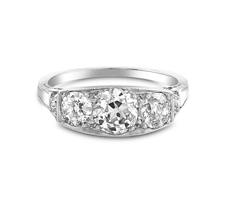 Estate 1921 Mine Cut Diamond Ring
