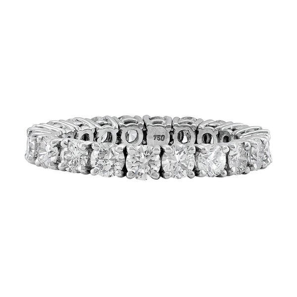 """Riviera"" Diamond Flexible Platinum Band"