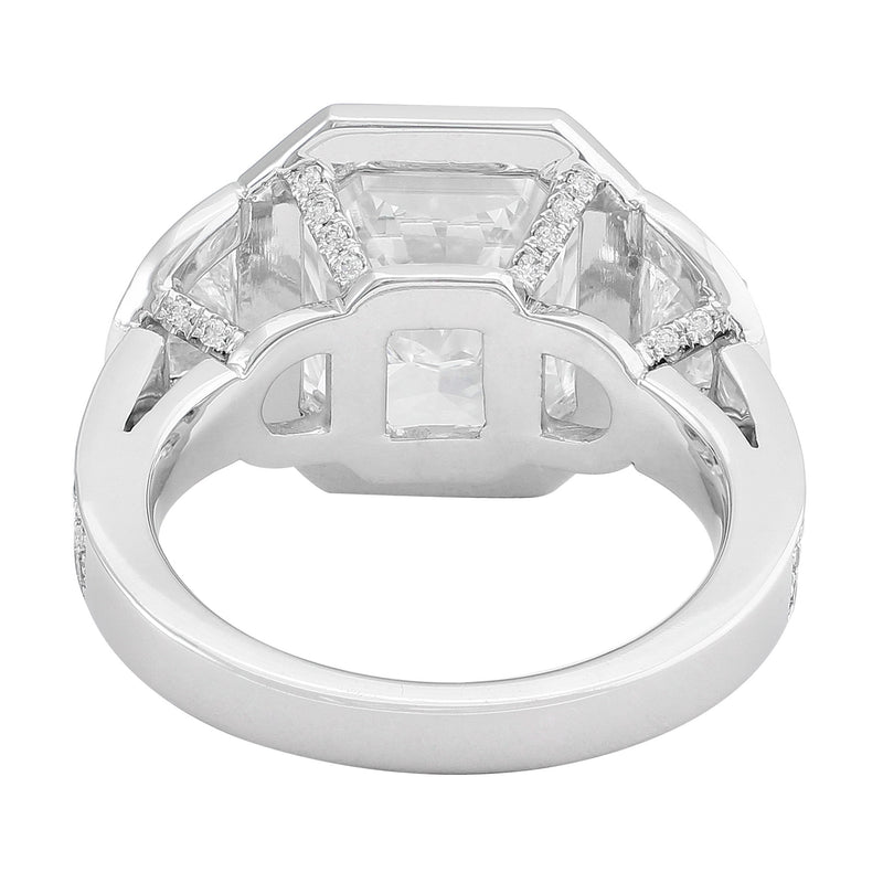 """Riviera"" 5.31ct Radiant Diamond Ring"
