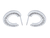 18kt White Gold & Diamond Horseshoe Motif Earrings