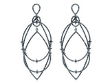 Estate Loree Rodkin Black Diamond Geometric Earrings