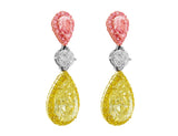 Rivière Pear Shaped Fancy Light Pink & Fancy Yellow Earrings