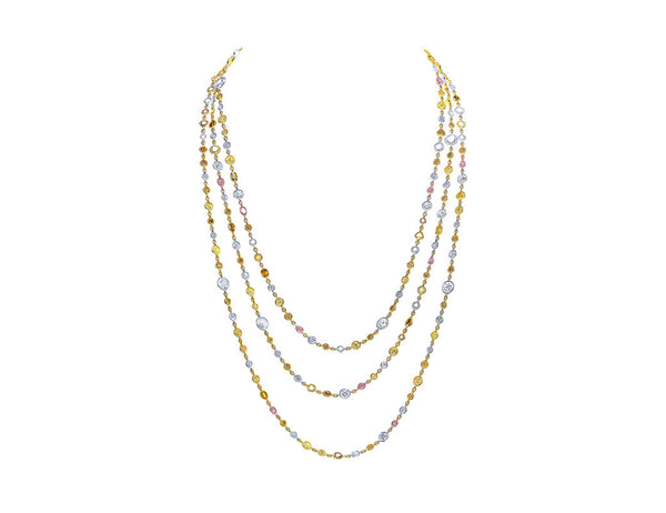 Grand Rivière Multicolor Diamond Necklace