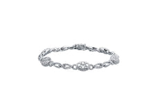 18kt White Gold Oval Motif 3.72ct Diamond Bracelet