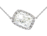 """Riviére"" 5ct Cushion Cut Diamond Pendant"