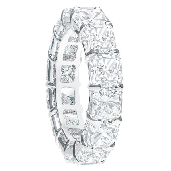 Platinum 10.78ctw Radiant Cut Diamond Band