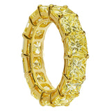 10.68ctw Fancy Yellow Diamond Eternity Band