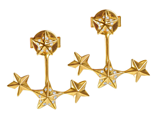 18kt Rose Gold Star Earrings