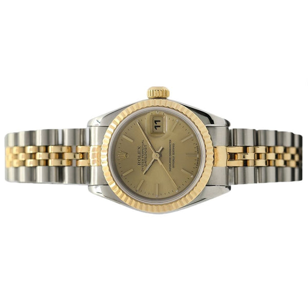 Rolex Oyster Perpetual Datejust 26MM 18K Yellow Gold/Steel 69173 - Pre-Owned