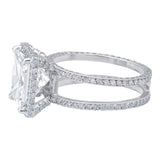 Rivière 4.01ct Square Cut Diamond Ring