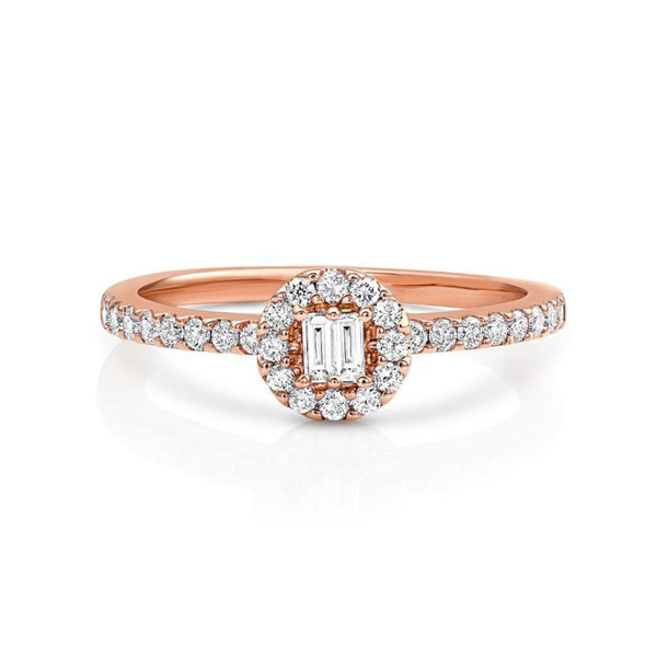 18kt Pink Gold Halo Pavè Band