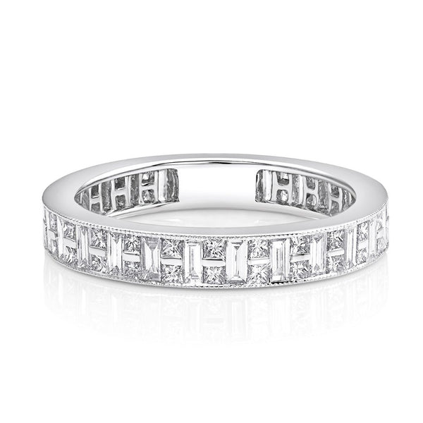 18kt White Gold Channel Set Diamond Band