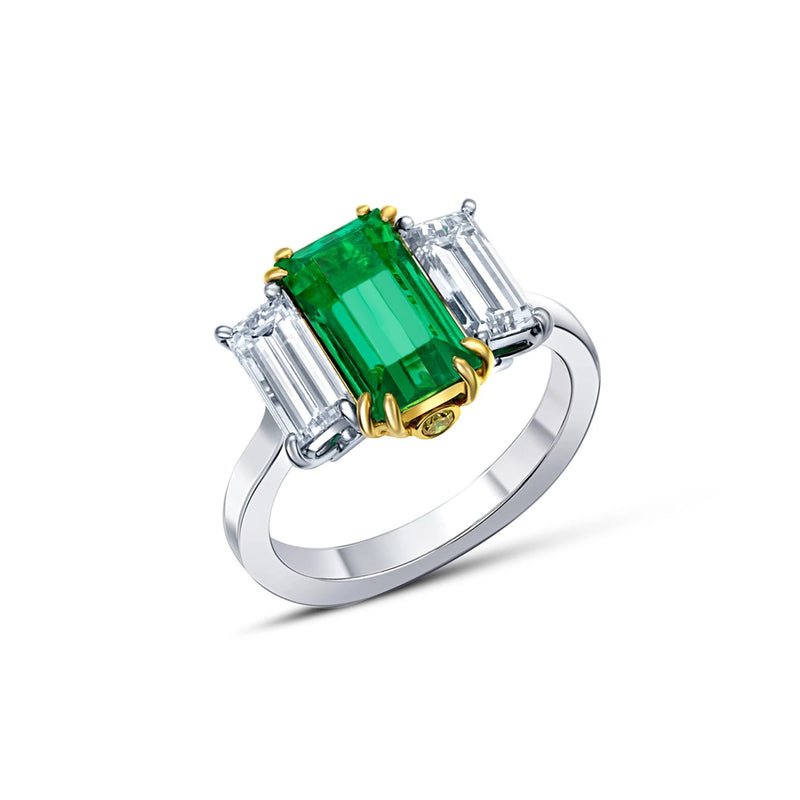 Riviére 2.22 ctw Emerald Ring