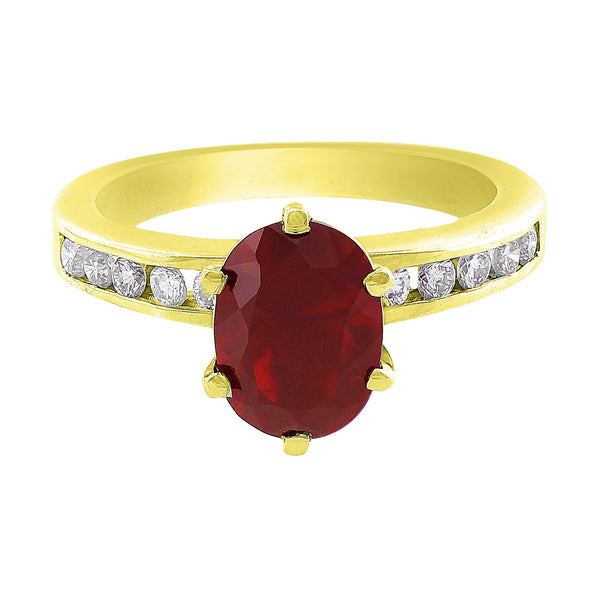 Estate Red Opal Diamond Ring