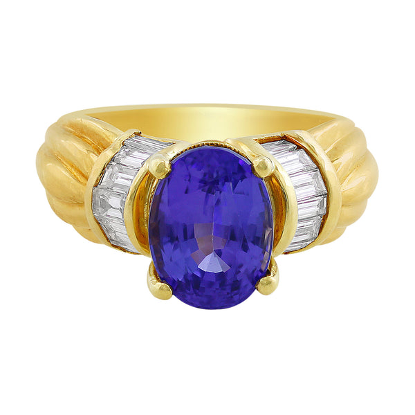 3ct Tanzanite Diamond Ring