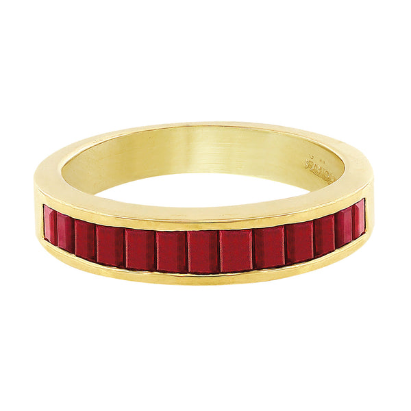 Estate Channel Set Ruby Ring