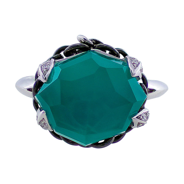 Stephen Webster Green Agate Diamond Ring