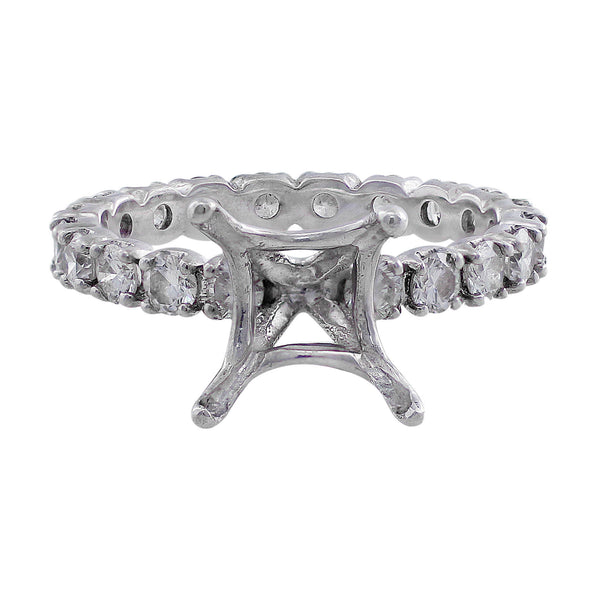 18k White Gold Diamond Ring Setting